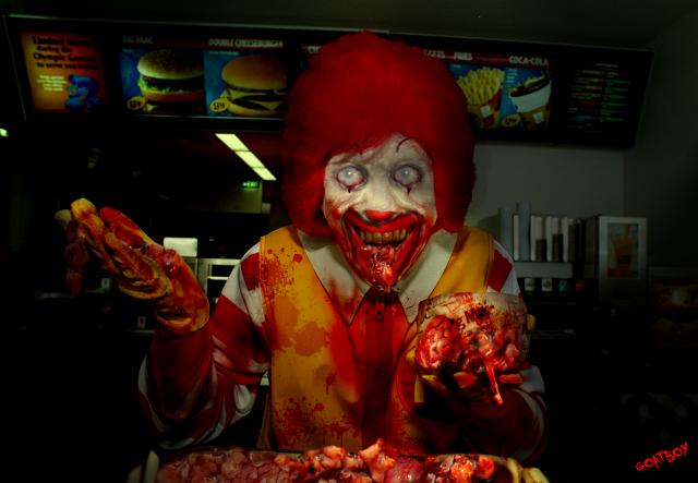 ronald mcdonald zombie