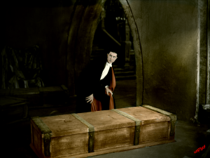 Dracula with coffin