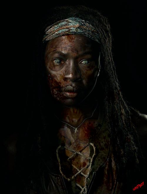 michonne zombie