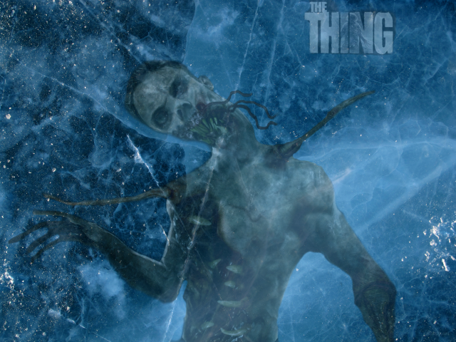 The Thing in ice