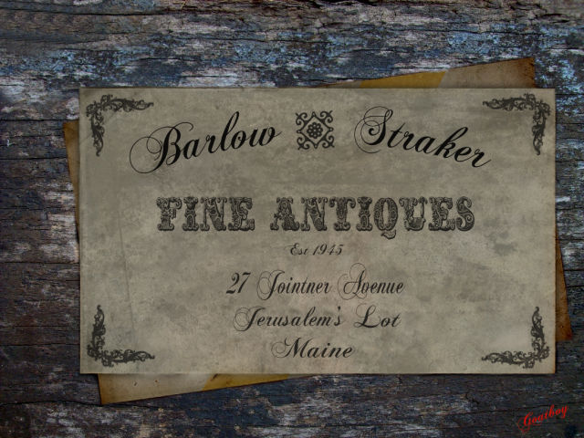 Barlow and Straker Antiques card
