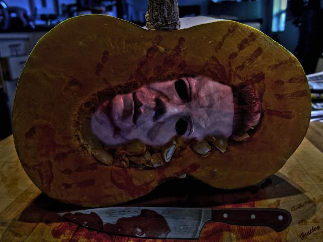 michael myers pumpkin
