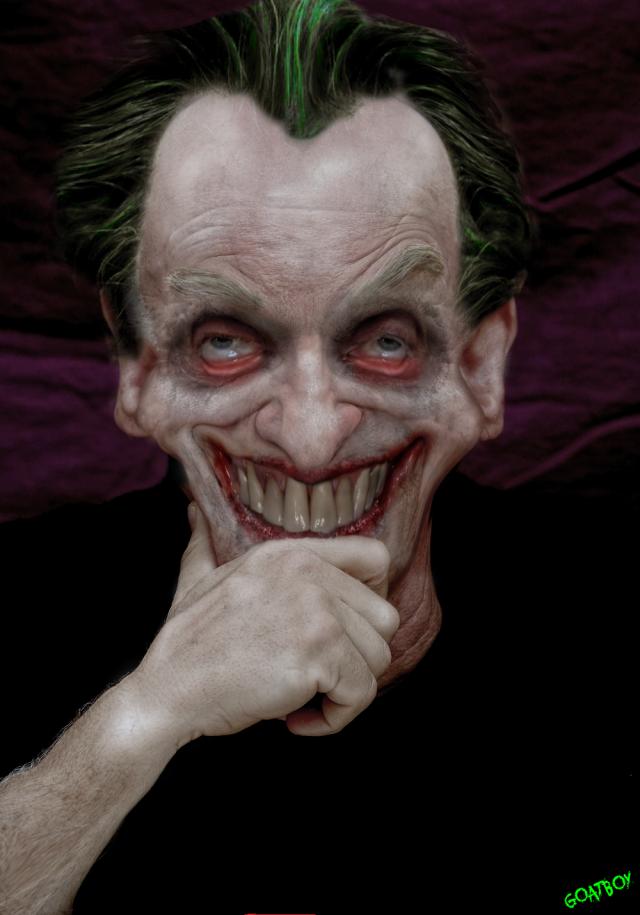 smirking joker