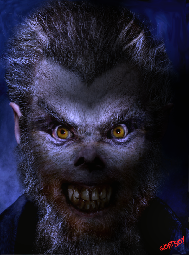 werewolf in blue