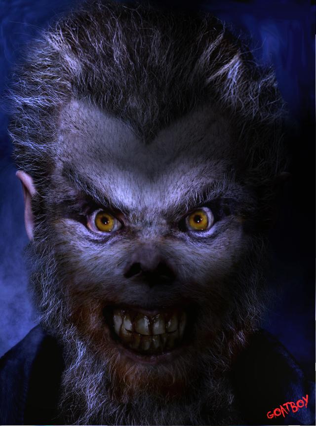 werewolf in blue