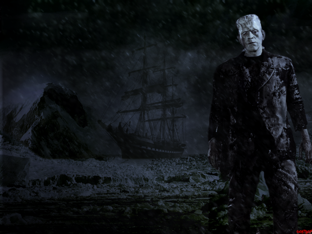 frankenstein monster in arctic