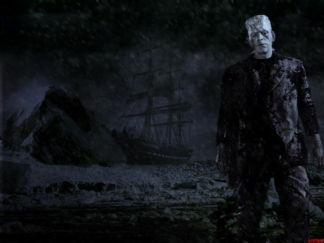 frankenstein monster in arctic