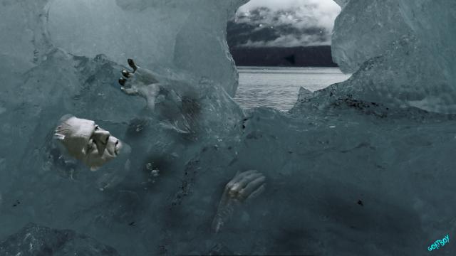 frankenstein monster in ice